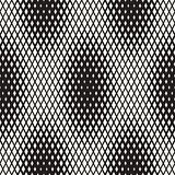 Repeating Shape Halftone. Modern Geometric Lattice Texture. Vector Seamless Monochrome Pattern