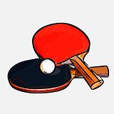 rackets ball table tennis
