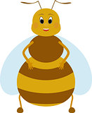 cartoon fat honey bee character