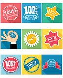 Nine guarantee icon