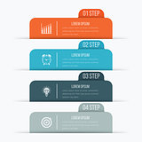 Vector illustration infographics four options