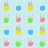 Cute childrens pattern for Easter