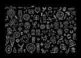 Set of ethnic design elements