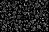 Tribal ethnic elements, seamless pattern for your design