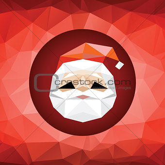 Abstract Santa in polygonal style