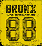 vintage bronx typography t-shirt graphics