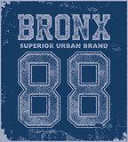 vintage bronx typography t-shirt graphics