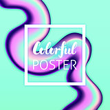 Colorful Liquid Fluid Poster