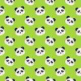 Happy Panda Faces Seamless Pattern