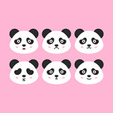Panda Faces Set