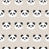 Panda Faces Seamless Pattern