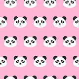 Panda Heads Seamless Pattern