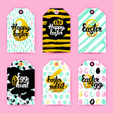 Happy Easter Trendy Gift Labels