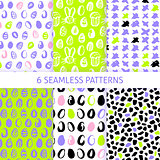Happy Easter Trendy Seamless Patterns