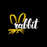 Rabbit Handwritten Calligraphy
