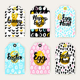 Trendy Happy Easter Gift Labels