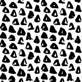 Triangle Hand Drawn Seamless Pattern