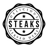 Steak vintage stamp vector