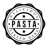 Pasta vintage stamp vector