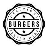 Burgers vintage stamp vector