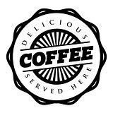 Coffee vintage stamp