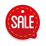 Sale label vector tag