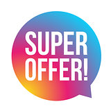 Super Offer sticker speech bubble