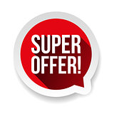 Super Offer sticker speech bubble red