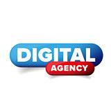 Digital agency button vector