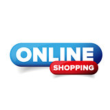 Online Shopping button vector