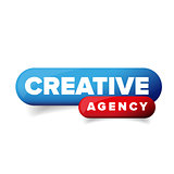 Creative Agency button vector