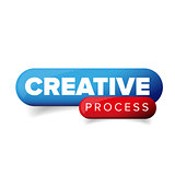 Creative Process vector button