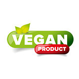 Vegan Product button vector