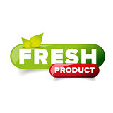 Fresh Product button vector