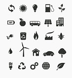 Renewable energy icon set