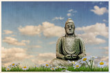 Budda statue on a beautiful meadow