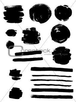 Black ink vector blots