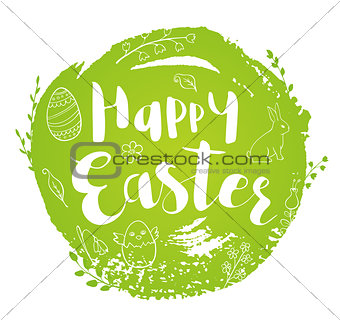 Green abstract Easter background