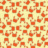 Seamless crabs pattern