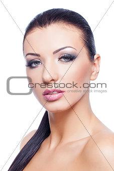 Beautiful girl with dark make-up