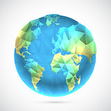 Polygonal World Globe