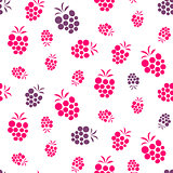 Raspberry pink and purple seamless pattern on white.