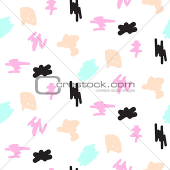 Abstract pastel color strokes seamless pattern.