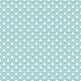 Japanese wave oriental seamless pattern.