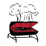 Black BBQ Grill icon