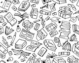 Books collection, seamless pattern for your design
