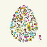 Easter egg, icons collection for your design