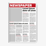 Newspaper layout vector