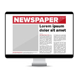 Newspaper on screen computer