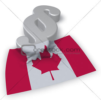 canada flag and paragraph symbol - 3d illustration